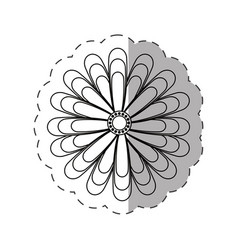 Jasmine flower decoration cut line vector