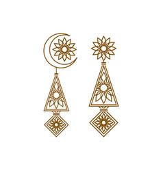 Luxury mandala decoration floral logo design vector