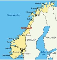 Map of Norway vector