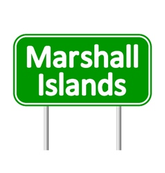 Marshall Islands road sign vector image