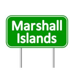 Marshall Islands road sign vector