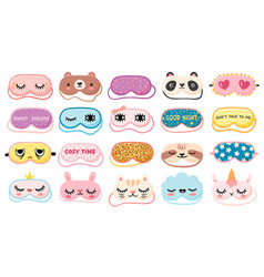 masks for dreaming night mask with cute girl eyes vector image