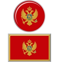Montenegrin round and square icon flag vector image
