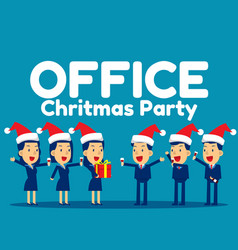 Office christmas party concept business vector