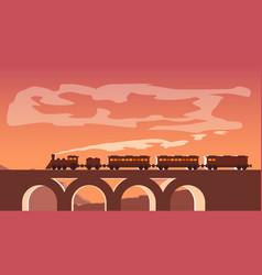 Picture train vector