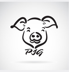 pigs head design on a white background farm vector image