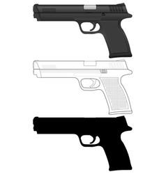 Pistol set vector