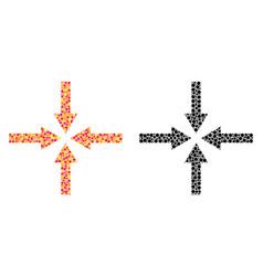 Pixel impact arrows mosaic icons vector