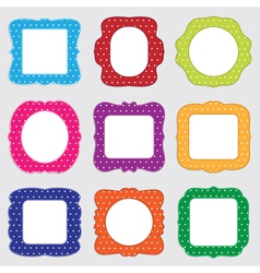 Polka dot frames vector