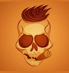 Poster skull vector