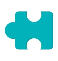 puzzle piece icon vector image