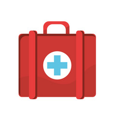 red first aid kit medications tools vector image