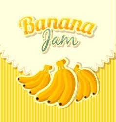 Retro banana jam label vector