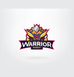 robot mascot logo design vector image