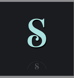 s c monogram combined letters beautiful classic vector image