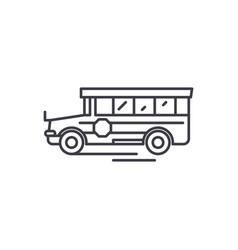 school bus line icon concept school bus vector image