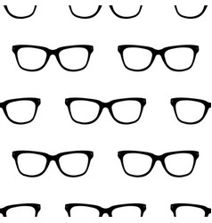 Seamless pattern with black hipster glasses vector