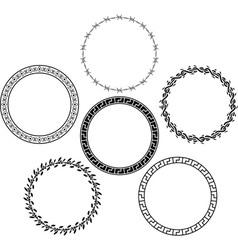 Set of rings stencils vector