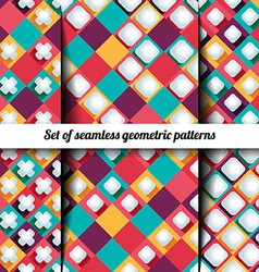 set of the seamless backgrounds vector image