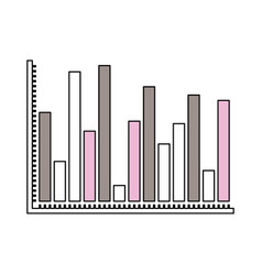 silhouette color sections of statistical graphs vector image