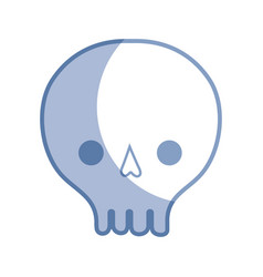 Silhouette skull danger symbol to caution alert vector