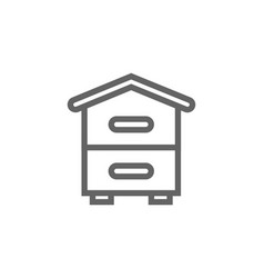 Simple beehive line icon symbol and sign vector