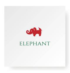 Simple minimalist elephant logo design vector