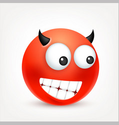 Smileyemoticon red face with emotions facial vector