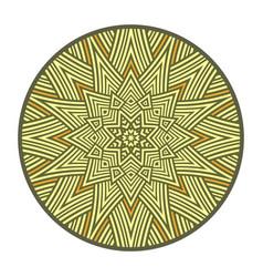 Symbol sun pagan amulet vector
