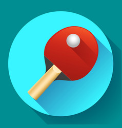 table tennis racket with ball vector image vector image