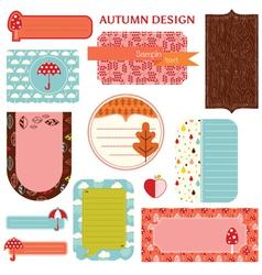 Tags - Autumn Set vector