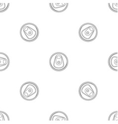 top tin can pattern seamless vector image
