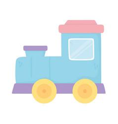 toy plastic train icon design white background vector image