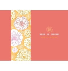 Warm day flowers horizontal seamless pattern vector image