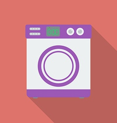 Washing machine icon Modern Flat style with a long vector image vector image