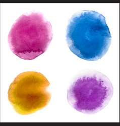 watercolor paint stains backgrounds set vector image