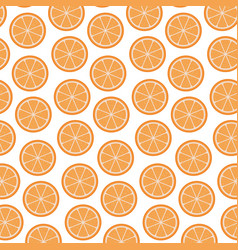 White background with pattern of orange fruits vector
