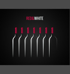 Wine bottle concept design background vector