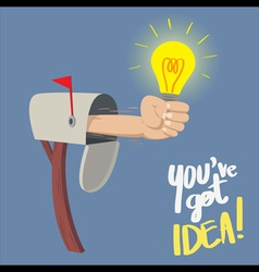 You have Got IDEA vector image