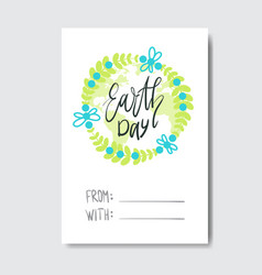 love my planet greeting card earth day holiday vector image