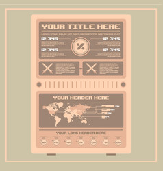 retro infographics elements pixel art vector image