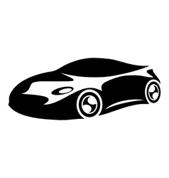 Silhouette sports car vector image vector image