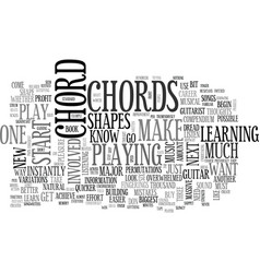 what you should know about beginner guitar chords vector image vector image