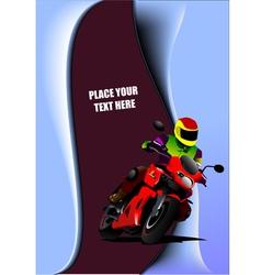 al 0817 motorcycle 02 vector image vector image