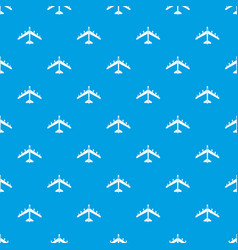 Armed fighter jet pattern seamless blue vector