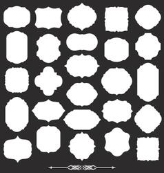 blank frame and label big set vector image vector image