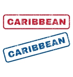 Caribbean rubber stamps vector