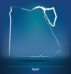 Doodle Map of Egypt vector image vector image