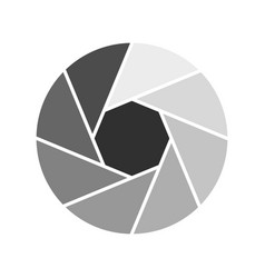 little objective icon flat style vector image