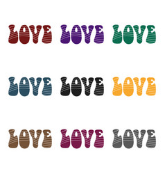 rainbow inscription of the word lovehippy single vector image vector image